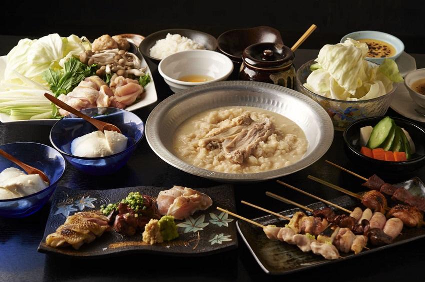 亀有にある鶏料理専門の居酒屋「とりいちず」のメニュー