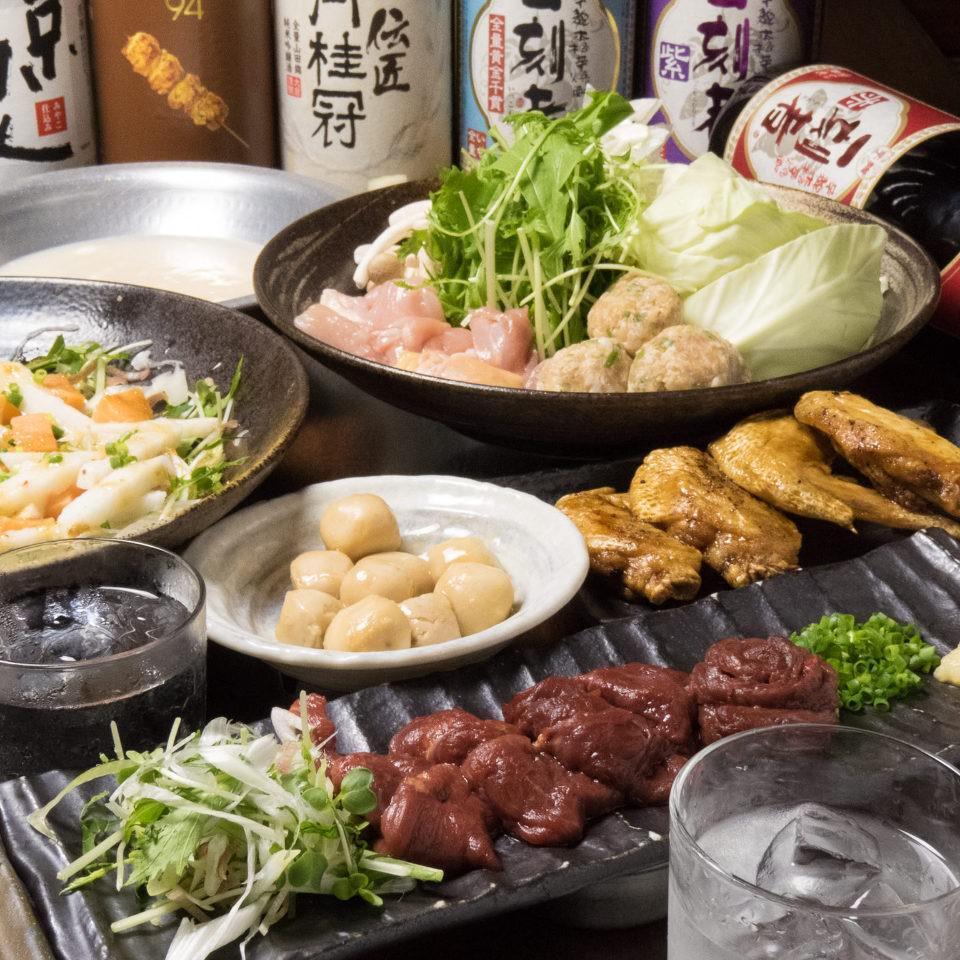 とりいちず酒場 亀有北口 店の鶏料理もお酒もしっかり楽しめるコース